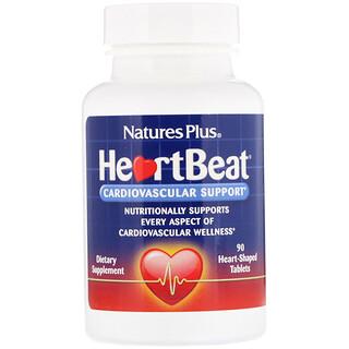 Nature's Plus, Battements de Cœur, Stimulation cardiovasculaire, 90 comprimés en forme de cœur