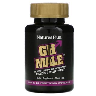 Nature's Plus, GH Male, гормон роста человека для мужчин, 60растительных капсул
