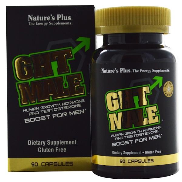 Nature's Plus, GHT Male,男士生長激素和睾酮素促進膠囊,90粒