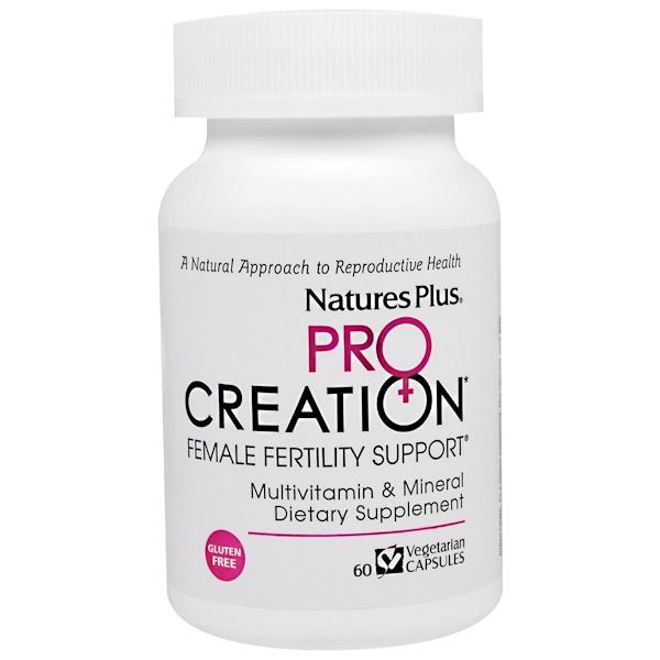 Nature's Plus, Procreation,女性生殖健康素食膠囊,60粒