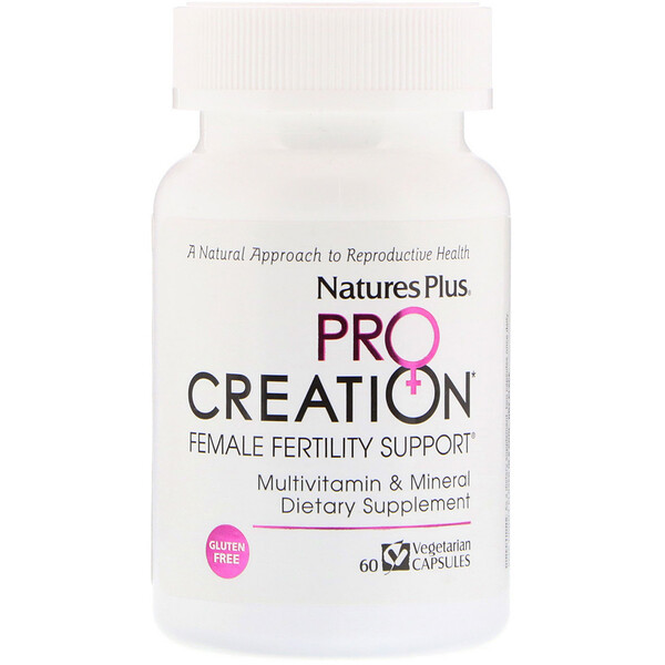 Nature's Plus, ProCreation, Female Fertility Support, 60 Vegetarian Capsules