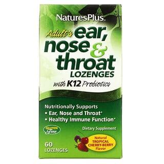 Nature's Plus, Hals, Nasen & Ohren Pastillen für Erwachsene, Tropische Kirsche Beeren, 60 Pastillen
