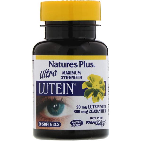 Ultra Lutéine, Puissance Maximale, 20 mg, 60 capsules