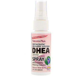 Nature's Plus, DHEA Spray, Instaceutic Delivery System, Natural Wild Berry, 2 fl oz (60 ml)