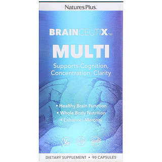 Nature's Plus, Brainceutix, Multi, 90 Capsules
