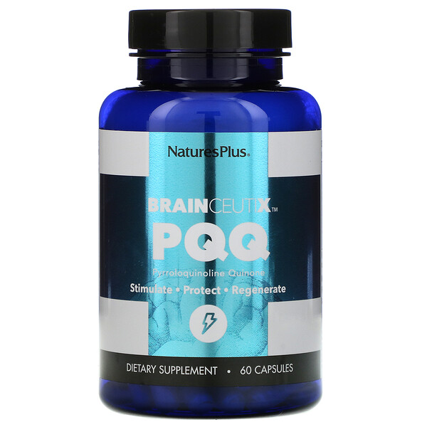 Nature's Plus, BrainCeutix, PQQ, 20 mg, 60 Capsules