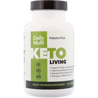 Nature's Plus, KetoLiving, Daily Multi, 90 Capsules