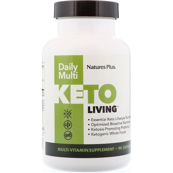 Nature's Plus, KetoLiving,每日多種營養補充劑,90粒膠囊