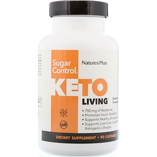 Nature's Plus, KetoLiving, control del azúcar, 90 cápsulas