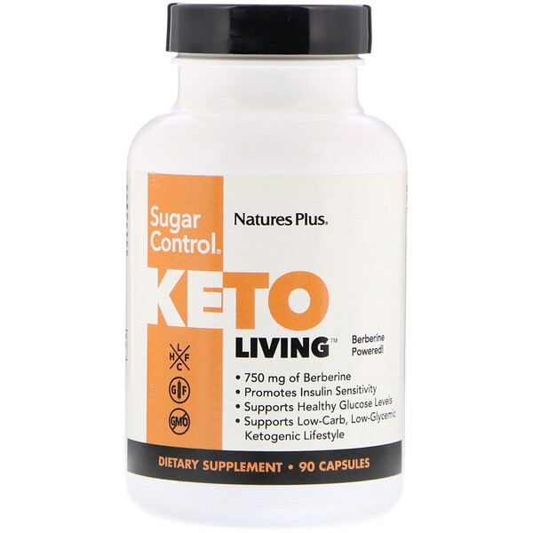 Nature's Plus, KetoLiving, Sugar Control, 90 Capsules