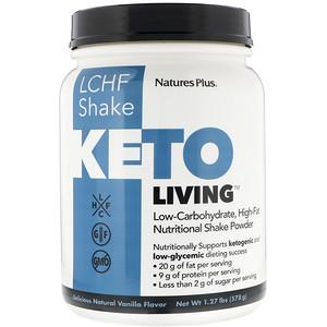 Натурес Плюс, KetoLiving, LCHF Shake, Delicious Natural Vanilla Flavor, 1.27 lbs (578 g) отзывы