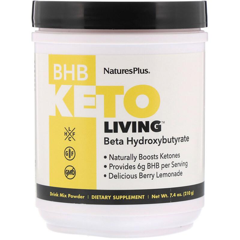 Nature's Plus, BHB Keto Living, Berry Lemonade, 7.4 oz (210 g)