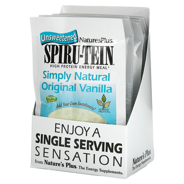 Spiru-Tein, High Protein Energy Meal, Vanilla, 8 Packets, 0.8 oz (23 g) Each