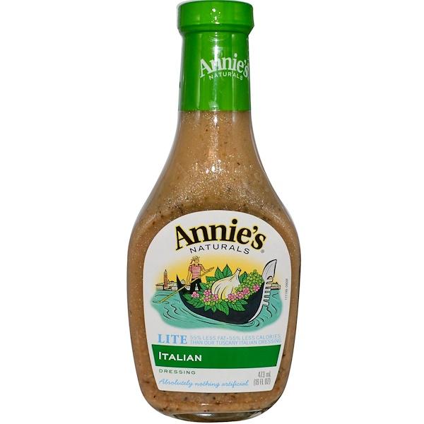Annie's Naturals, Lite Italian Dressing, 16 fl oz (473 ml) (Discontinued Item)