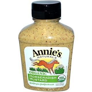 Annie's Naturals, Горчица из хрена, Органический продукт 9 унций (255 г)
