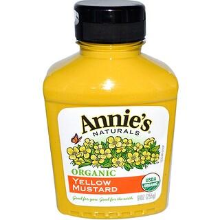 Annie's Naturals, Organic Yellow Mustard, 9 oz (255 g)