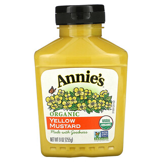 Annie's Naturals, Органическая желтая горчица, 9 унций (255 г)