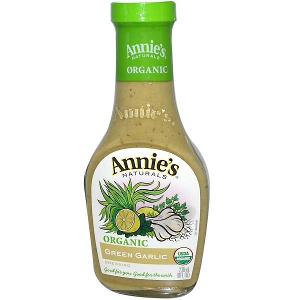 Annie's Naturals, Organic, Green Garlic Dressing, 8 fl oz (236 ml) (Discontinued Item)