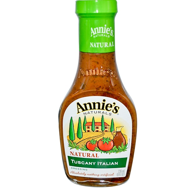 Annie's Naturals, Natural Tuscany Italian Dressing, 8 fl oz (236 ml) (Discontinued Item)