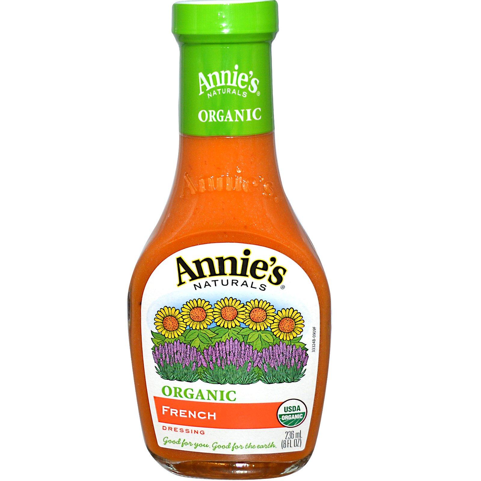 Annie's Naturals, Органическая, французская заправка-соус, 8 жидк. унц. (236 мл)