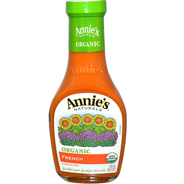 Annie's Naturals, Органическая, французская заправка-соус, 8 жидк. унц. (236 мл) (Discontinued Item)