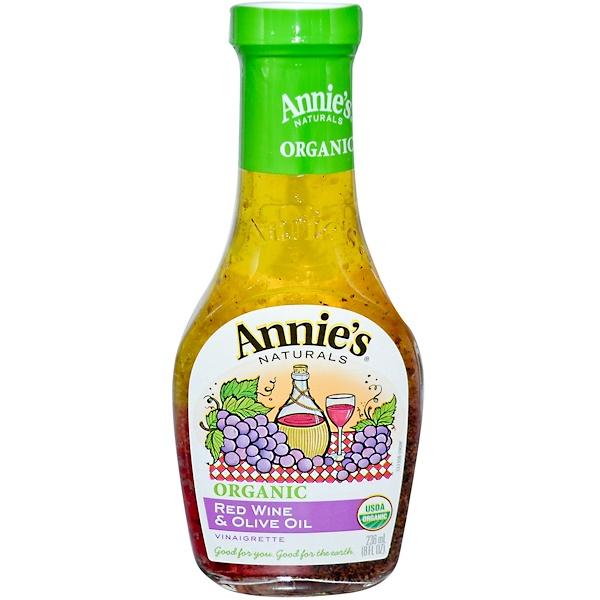 Annie's Naturals, Органическая уксусная заправка с красным вином и оливковым маслом, 8 жидк. унц. (236 мл) (Discontinued Item)