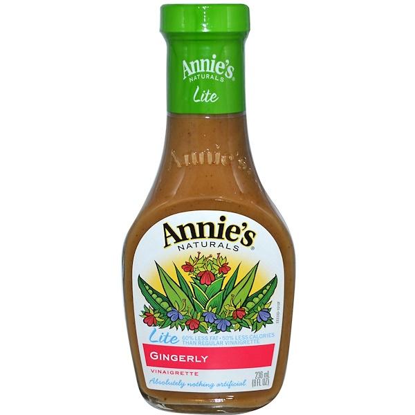 Annie's Naturals, Легкая уксусная заправка с имбирем, 8 жидк. унц. (236 мл) (Discontinued Item)