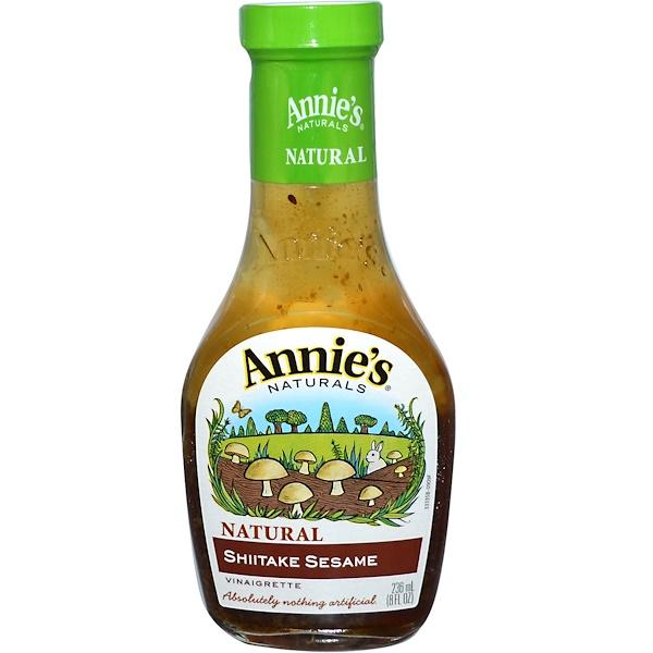 Annie's Naturals, Натуральная уксусная заправка с кунжутом и шитике, 8 жидк. унц. (236 мл) (Discontinued Item)