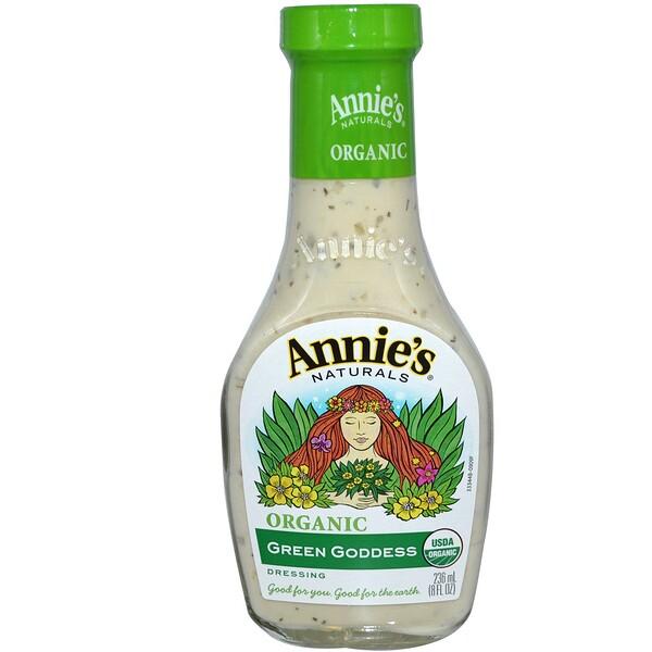 Annie's Naturals, Органическая зеленая заправка «Богиня», 8 жидк. унц. (236 мл) (Discontinued Item)