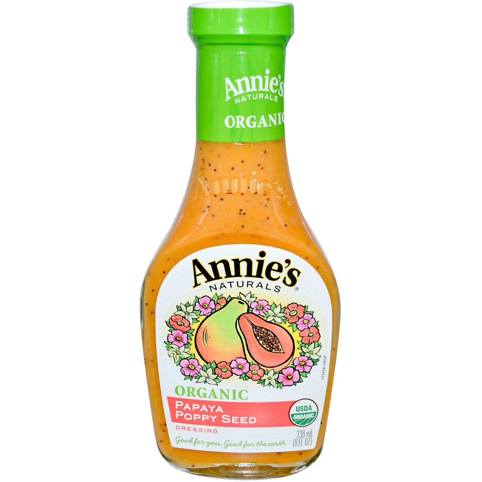 Annie's Naturals, Органическая заправка из папайи и макового семени, 8 жидк. унц. (236 мл)