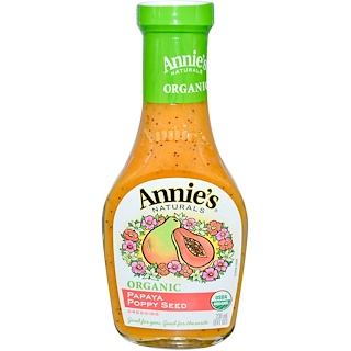 Annie's Naturals, Organic Papaya Poppy Seed Dressing, 8 fl oz (236 ml)