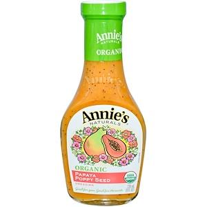 Аннис Натуралс, Organic Papaya Poppy Seed Dressing, 8 fl oz (236 ml) отзывы