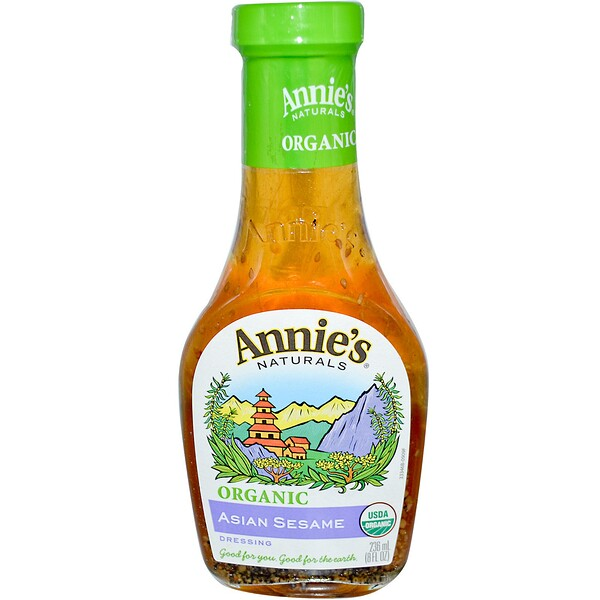 Annie's Naturals, Organic. Asian Sesame Dressing, 8 fl oz (236 ml)