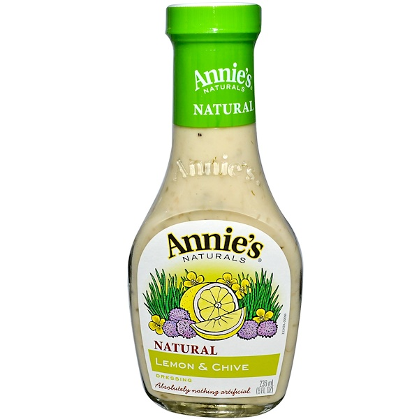 Annie's Naturals, Lemon & Chive Dressing, 8 fl oz (236 ml) (Discontinued Item)