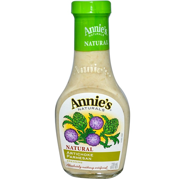 Annie's Naturals, Natural Artichoke Parmesan Dressing, 8 fl oz (236 ml) (Discontinued Item)