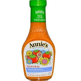 Annie's Naturals, Woodstock, Savory Blend of Tahini & Tomato Dressing, 8 fl oz (236 ml)