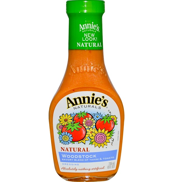 Annie's Naturals, Woodstock, Savory Blend of Tahini & Tomato Dressing, 8 fl oz (236 ml)