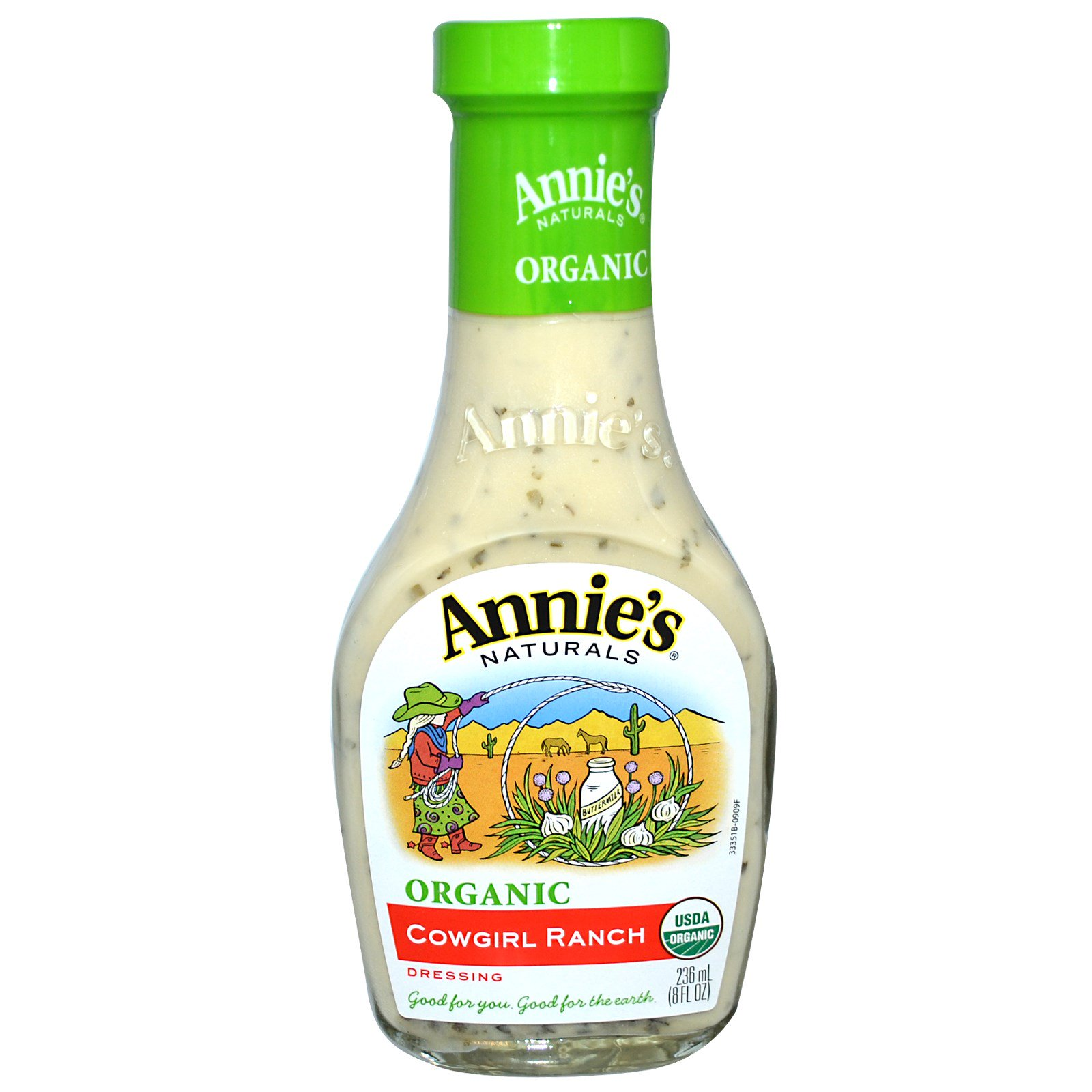 Annie's Naturals, Органический, фермерский соус «Девушка-ковбой», 8 жидк. унц. (236 мл)