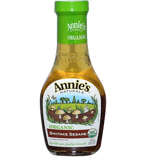Annie's Naturals, Органическая, уксусная заправка с кунжутом и шитике, 8 жидк. унц. (236 мл) (Discontinued Item)