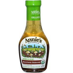 Аннис Натуралс, Organic, Shiitake Sesame Vinaigrette, 8 fl oz (236 ml) отзывы
