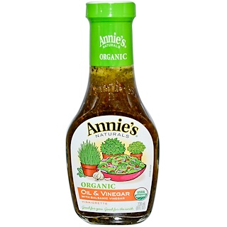 Annie's Naturals, Organic Oil & Vinegar with Balsamic Vinegar Vinaigrette, 8 fl oz (236 ml)