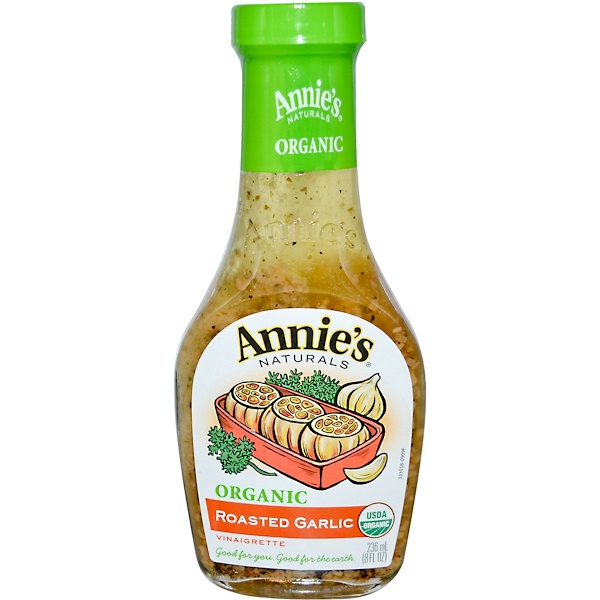 Annie's Naturals, Organic, Roasted Garlic Vinaigrette, 8 fl oz (236 ml) (Discontinued Item)