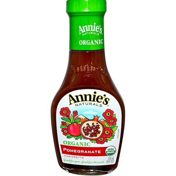 Annie's Naturals, Organic, Pomegranate Vinaigrette, 8 fl oz (236 ml) (Discontinued Item)
