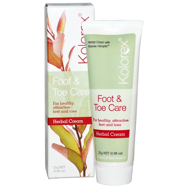Nature's Sources, Kolorex, Foot & Toe Care, Herbal Cream, 0.88 oz (25 g) (Discontinued Item)
