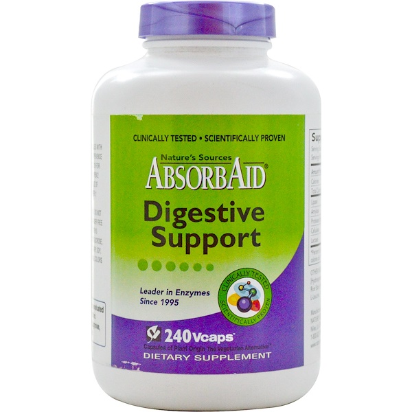 AbsorbAid, Digestive Support, 240 Vcaps