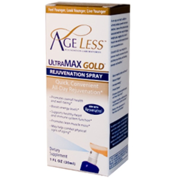 Ageless Foundation Laboratories, UltraMax HGH, Daytime Companion Spray, 1 fl oz (30 ml) (Discontinued Item)