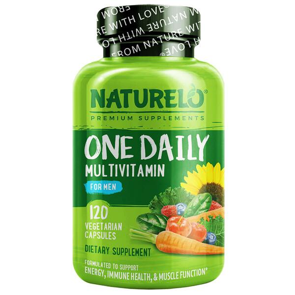 Suplemento multivitamínico de una ingesta diaria para hombres, 120cápsulas vegetales