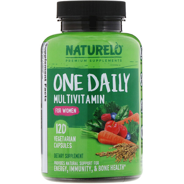 NATURELO, One Daily Multivitamin for Women, 120 Vegetarian Capsules