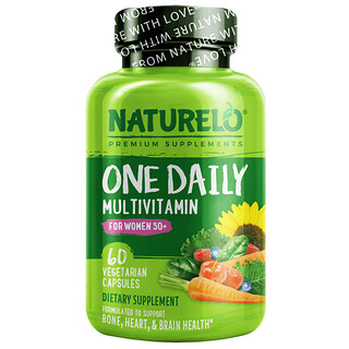 NATURELO, One Daily Multivitamin for Women 50+, 60 Vegetarian Capsules