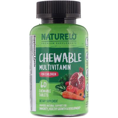 Купить NATURELO Жевательные мультивитамины для детей, 60 жевательных таблеток